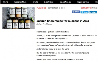Jasmin finds recipe for success in Asia