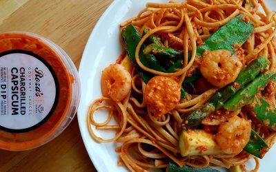 Pasta with Chargrilled Capsicum Dip