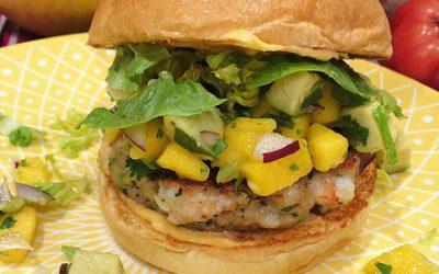 Prawn Burger with Habanero Chilli Mayo