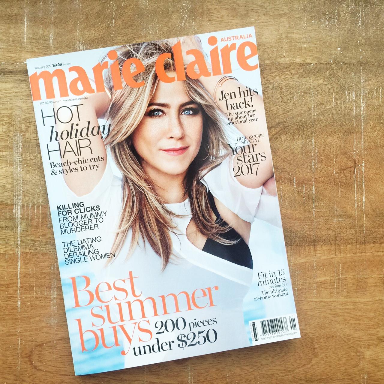 Jasmin Robertson in Marie Claire magazine.