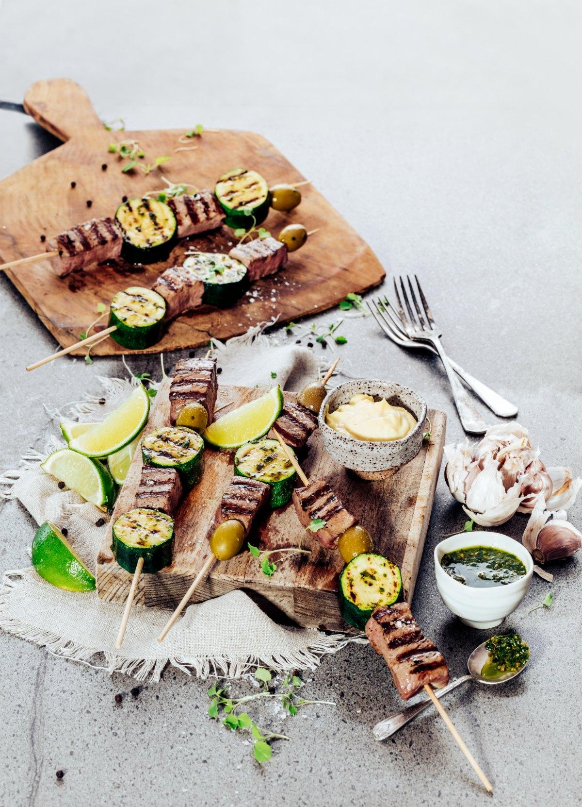 Lamb Kebabs - Trad Pesto & Aioli