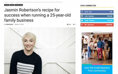 Jasmin Robertson's recipe for success