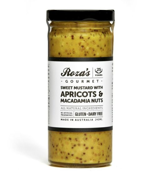 Sweet Mustard with Apricots & Macadamia Nuts_White