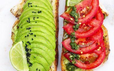 Pesto, Avocado and Tomato on Sourdough