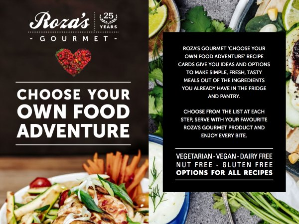 rozas gourmet choose your own food adventure recipe cards