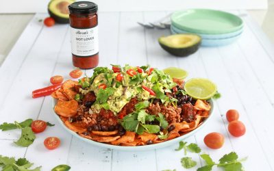 Sweet potato nachos to eat tonight