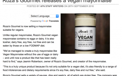 Roza's releases a vegan mayonnaise