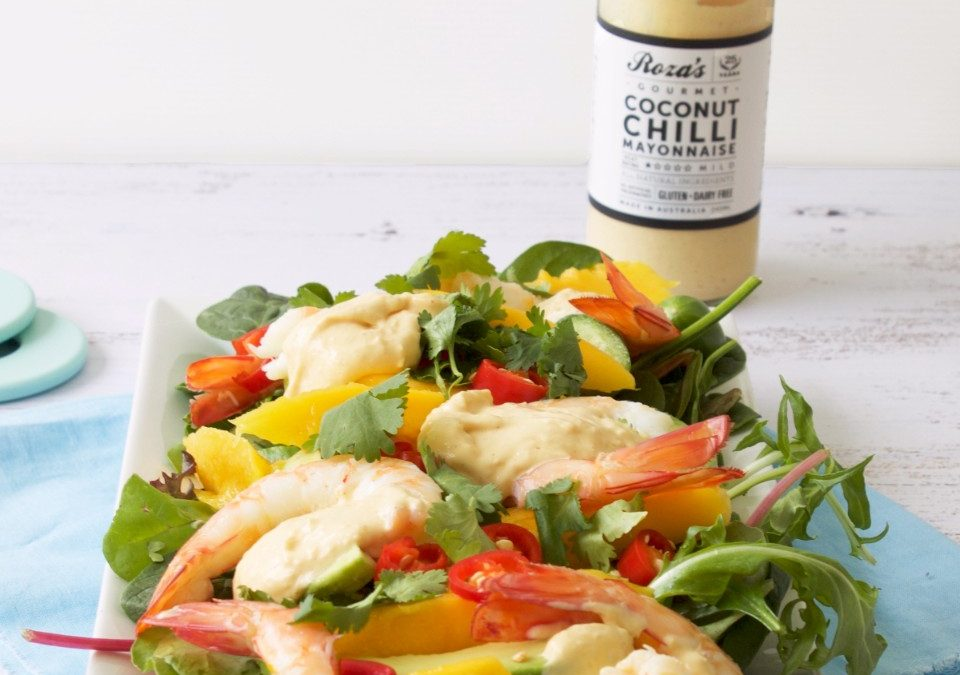 Prawn and Mango Salad with Coconut Chilli Mayonnaise