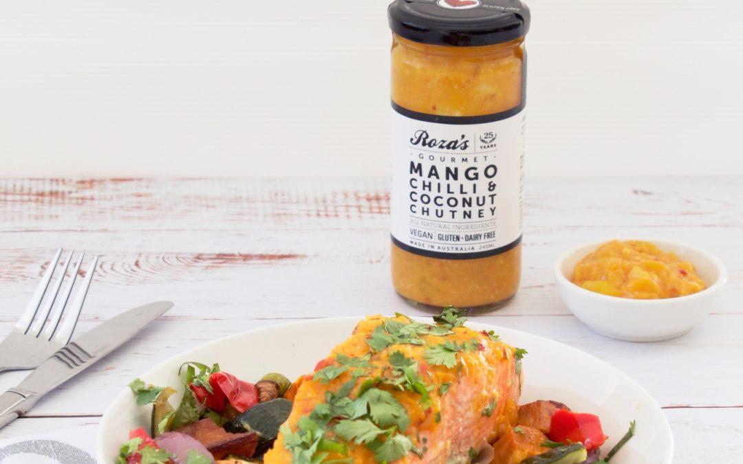 Mango Chilli & Coconut Chutney Glazed Salmon