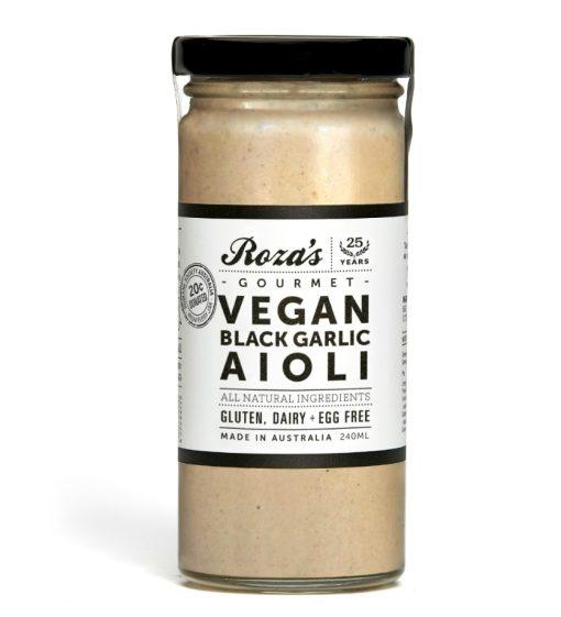 Rozas Gourmet sauce Vegan-Black-Garlic-Aioli