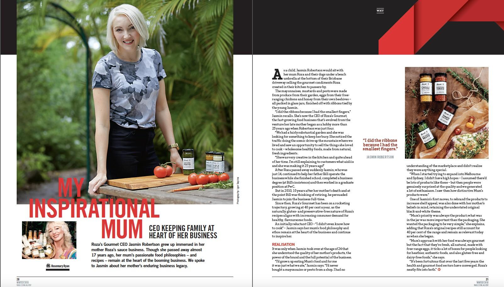 NAB Business View Roza's Gourmet Jasmin Robertson Entrepreneur Interview