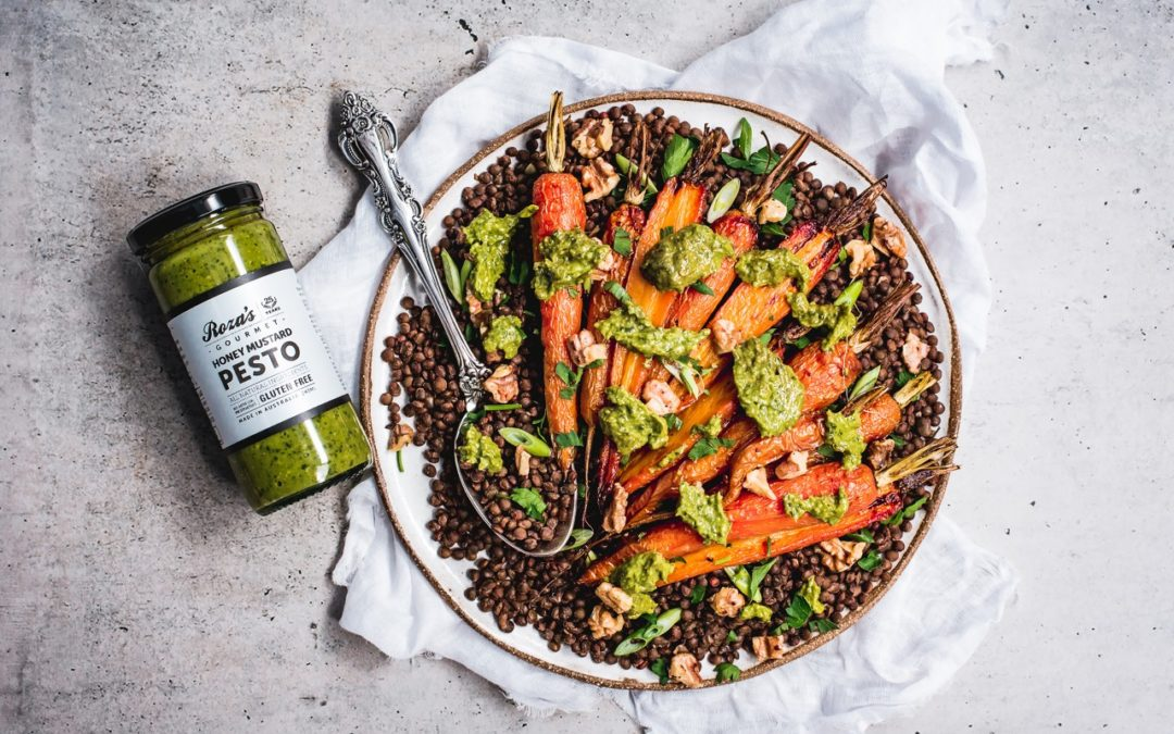 Honey Roasted Carrot and Lentil Salad