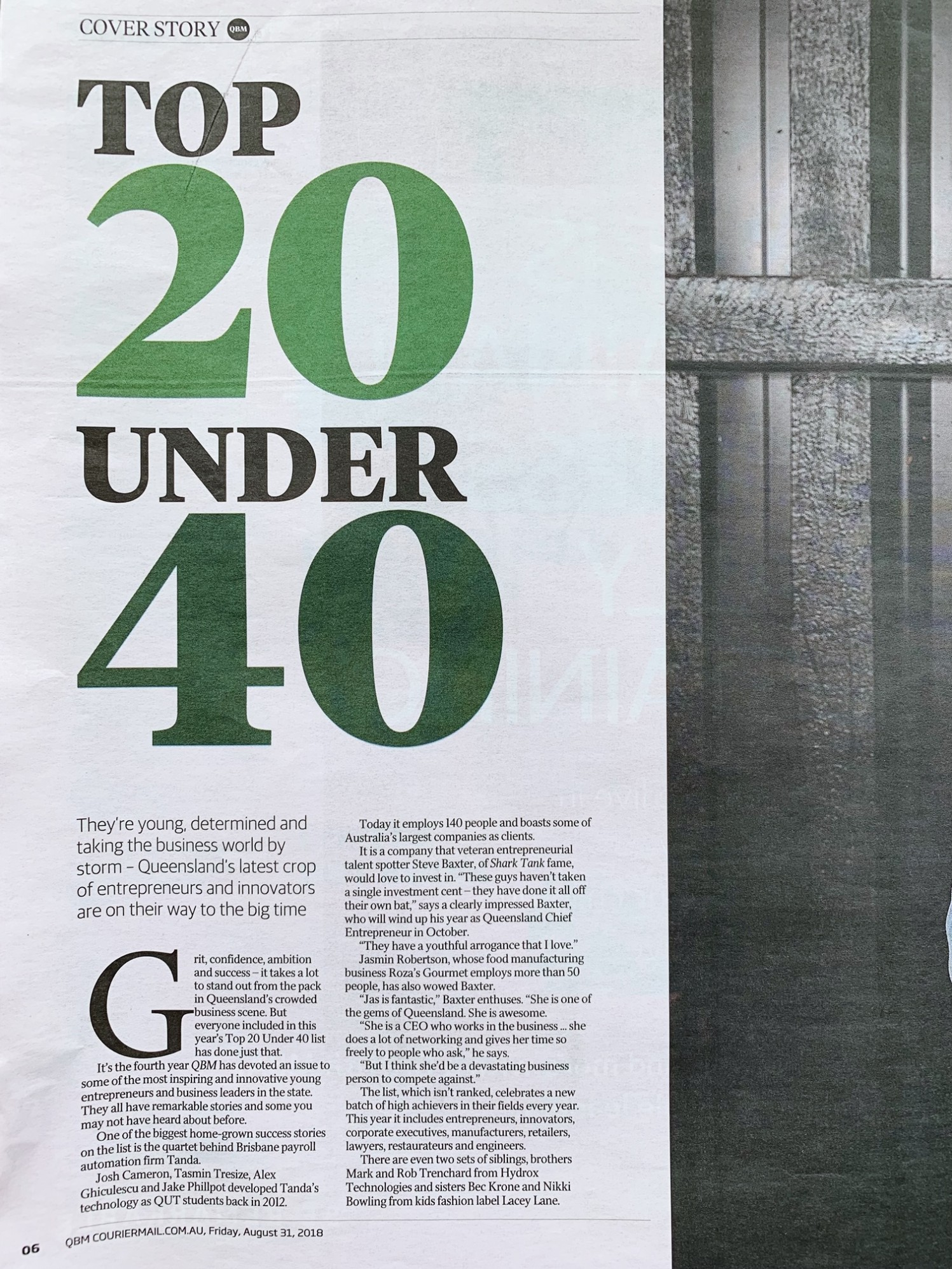 Jasmin Robertson Top 20 Under 40 Courer Mail 1