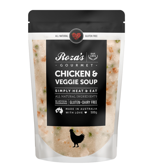roza's gourmet chicken and veggie soup gluten free australian made