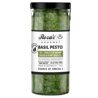 Basil Pesto with Hemp See Oil