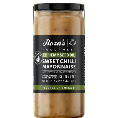 Roza's Gourmet Sweet Chilli Mayonnaise with Hemp Seed Oil