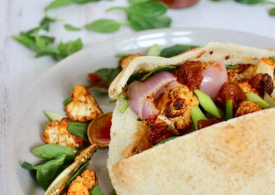 Indian Spiced Pita Pockets
