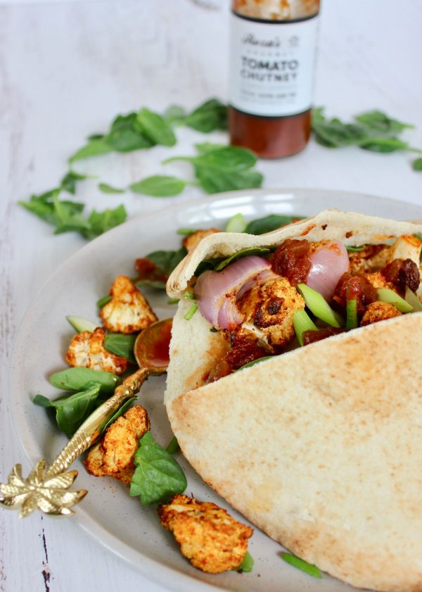 Indian Spiced Pita Pockets Recipe Roza's Gourmet Tomato Chutney 1