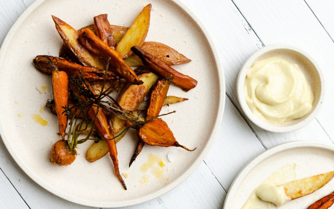 Roasted Vegetables with Garlic Aioli