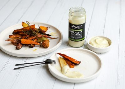 Roasted Vegetables with Hemp Seed Oil Mayonnaise