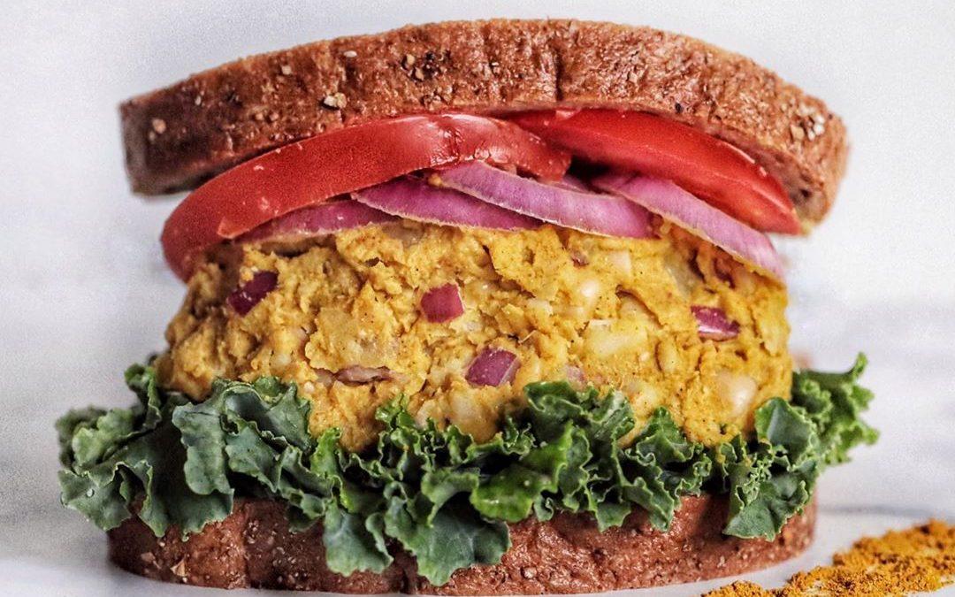 """Vegan Butter Bean Curried """"Egg"""" Sandwich"""