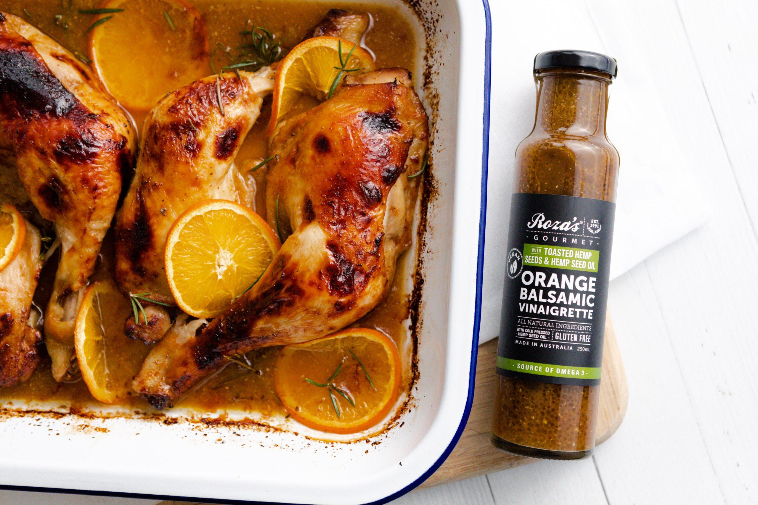 Roza's Gourmet Orange Balsamic Baked Chicken Recipe